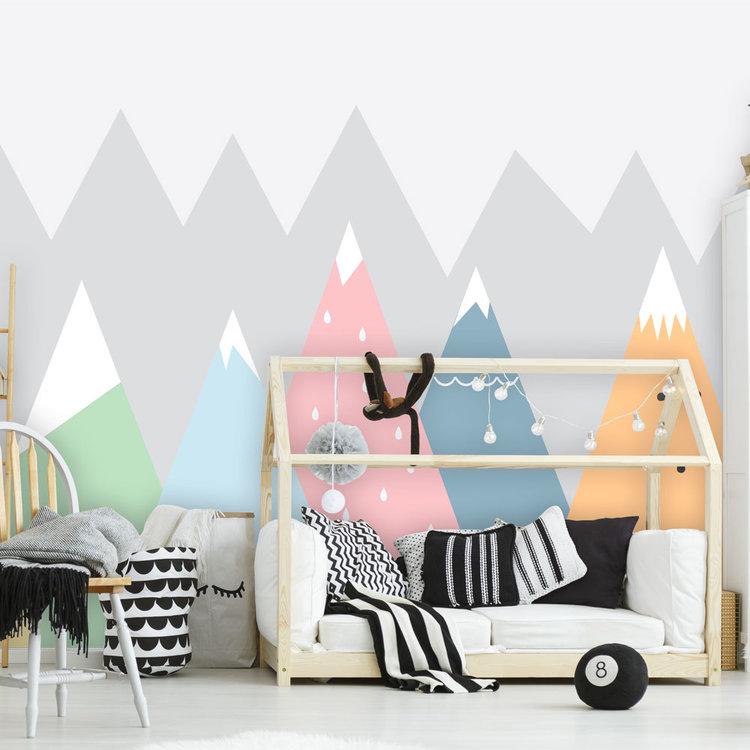 Daring Walls Kinderbehang Summits - colors