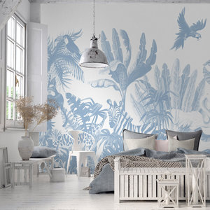 Daring Walls Behang Jungle uni - blue