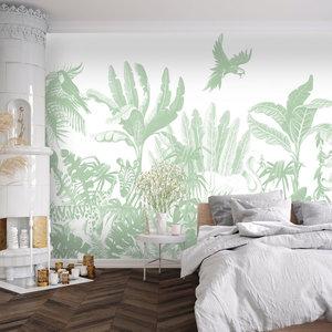 Daring Walls Behang Jungle uni - green