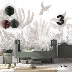 Daring Walls Behang Jungle uni - grey