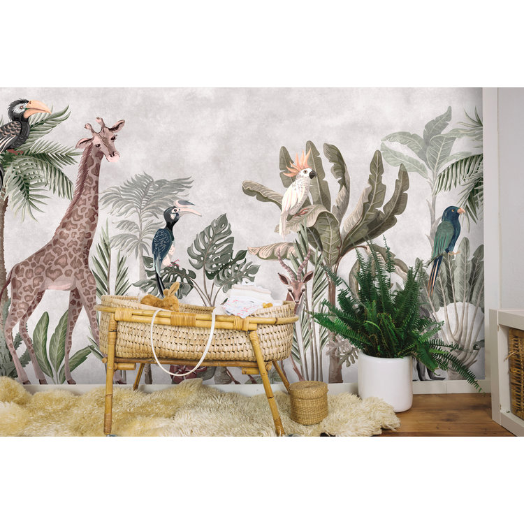 Daring Walls Behang Jungle soft colors -1
