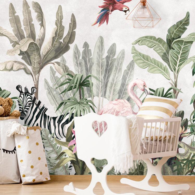 Daring Walls Behang Jungle soft colors -2