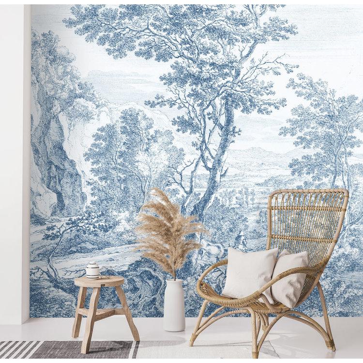Daring Walls Behang Old Landscapes 3- blue