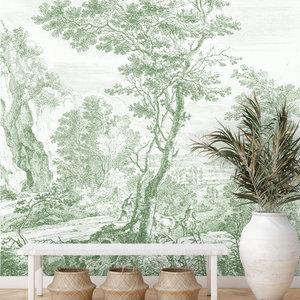 Daring Walls Behang Old Landscapes 3- green
