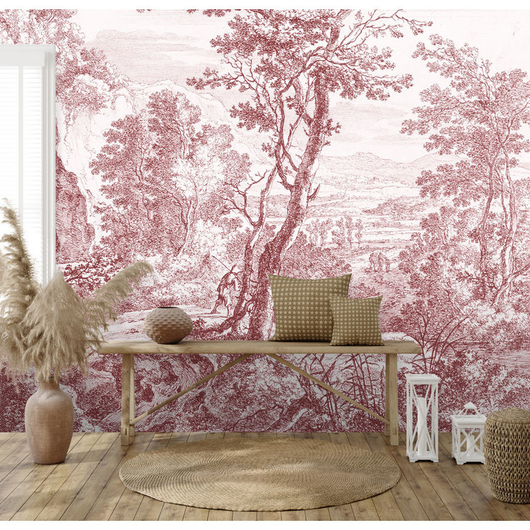Daring Walls Behang Old Landscapes 3- pink