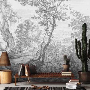 Daring Walls Behang Old Landscapes 3- grey