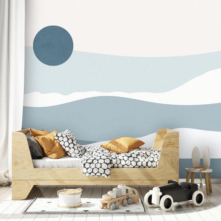 Daring Walls Behang Abstract sunset - blue