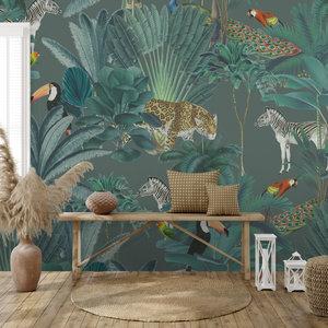 Daring Walls Behang Royal palms - green