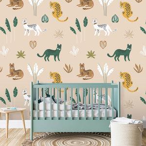 Daring Walls Jungle cats wallpaper - pink sand - Copy