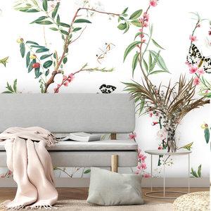 Daring Walls Behang Springtime white - SALE