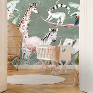 Daring Walls Kinderbehang Watercolor Savanna - green