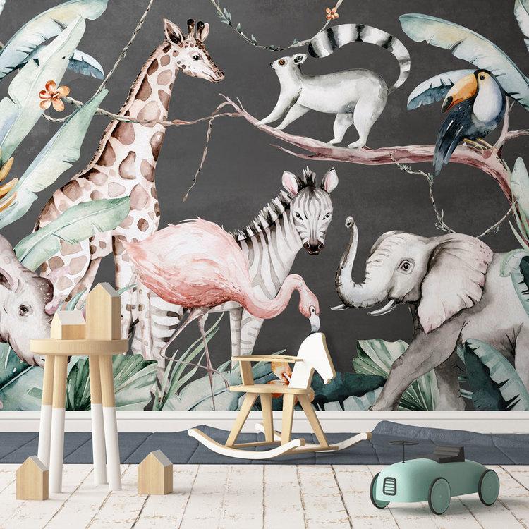 Daring Walls Kinderbehang Watercolor Savanna - antra
