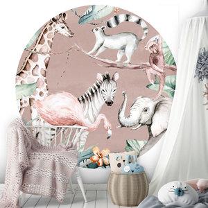 Daring Walls Behangcirkel Watercolor Savanna - pink