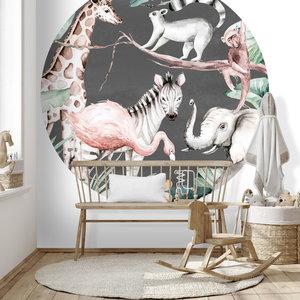 Daring Walls Behangcirkel Watercolor Savanna - antra