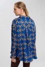 Marc Aurel Blouse Royal bleu ketting print