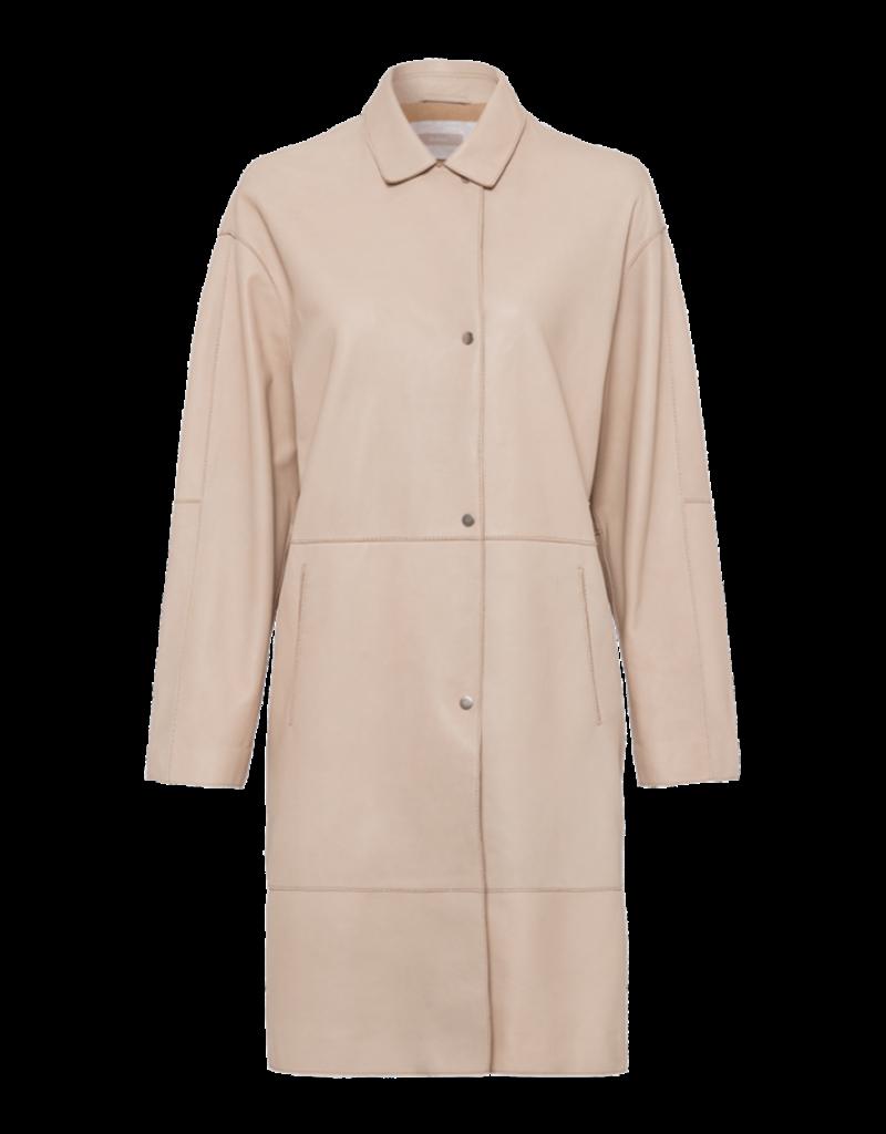 Riani Leren mantel beige