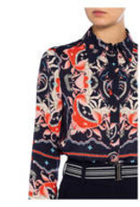 Riani Blouse Deep Blue Patterned