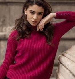 Cavallaro Reina roll neck pullover Dark Pink