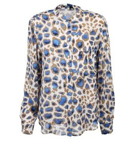 Marc Aurel Blouse Bleu Camel All Over Print