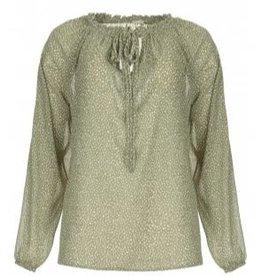 JcSophie Christobel blouse green white dots C5070