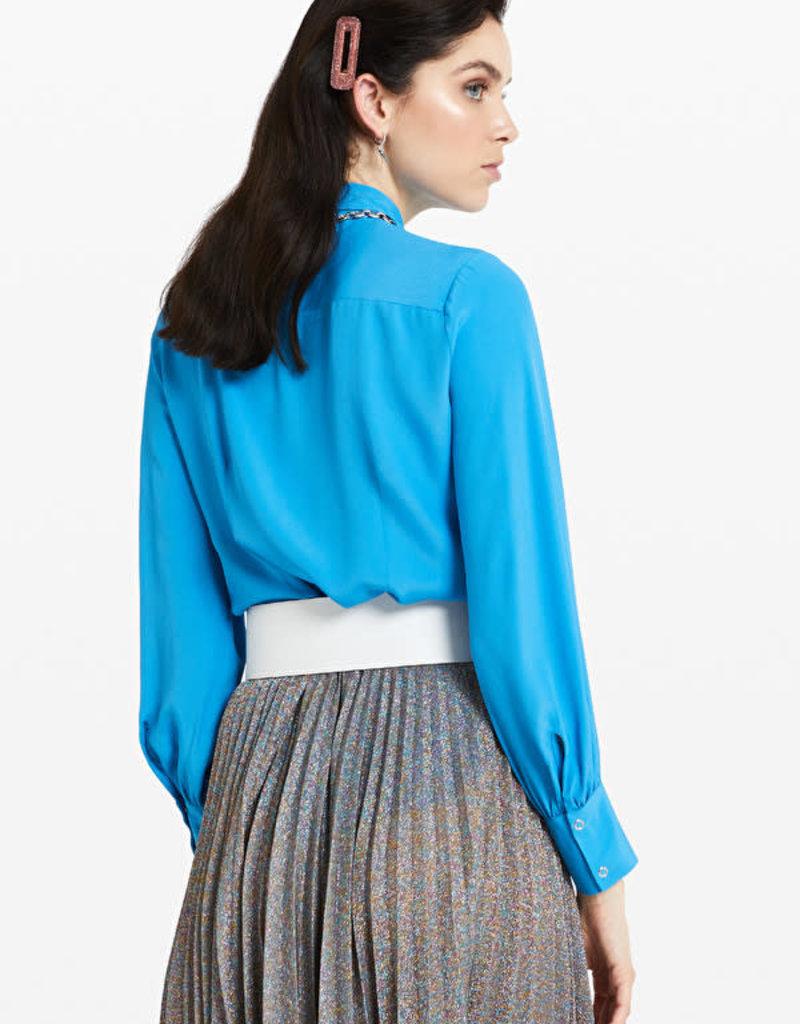 Ottod'Ame Blouse zijde azzurro