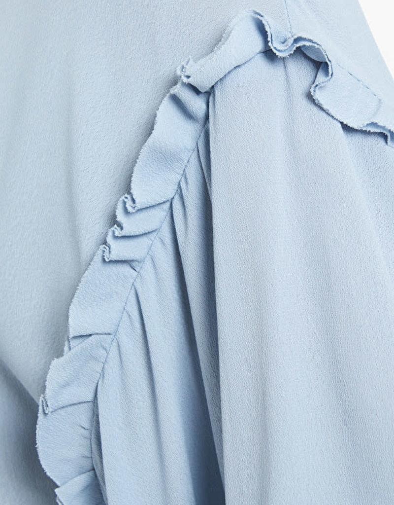 Ottod'Ame Blousson Celeste Bleu met mouw detail