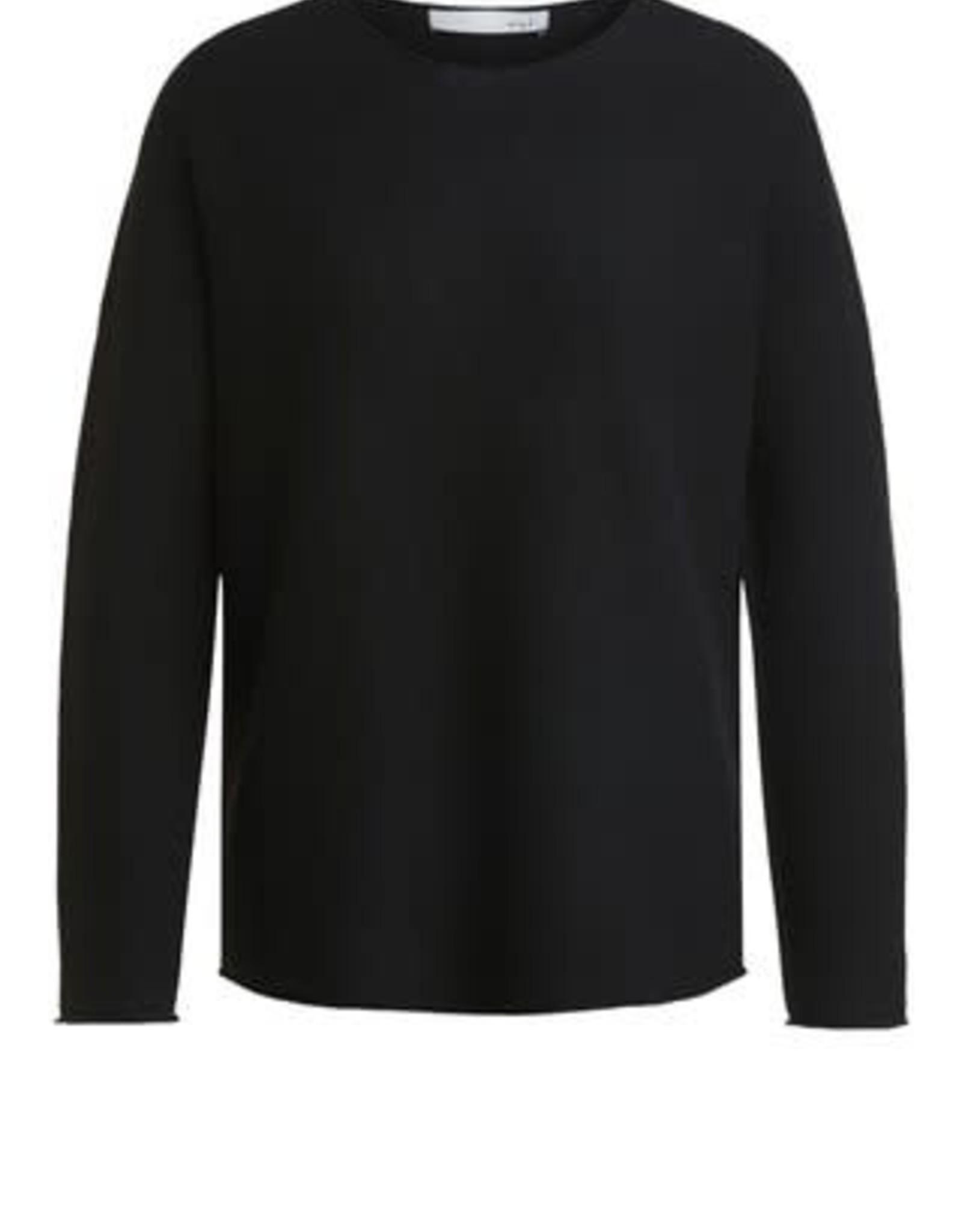 Oui Pullover Ronde hals Black