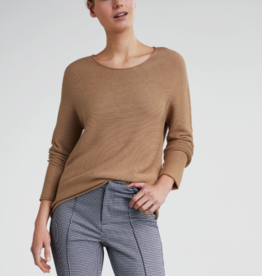 Oui Pullover Ronde hals Camel