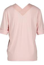 Riani Shirt V neck voor achter Zijde detaill powder