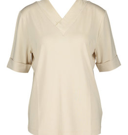 Riani Shirt V Neck voor achter Zijde detaill ivory