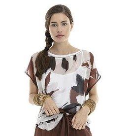 Maria Bellentani Shirt Mesh Maciata Moro