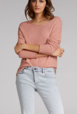 Oui Pullover Ronde hals Apricot