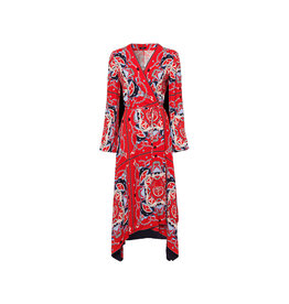 Riani Dress Fire Red Patterned