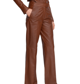 Riani Leather trousers hazel