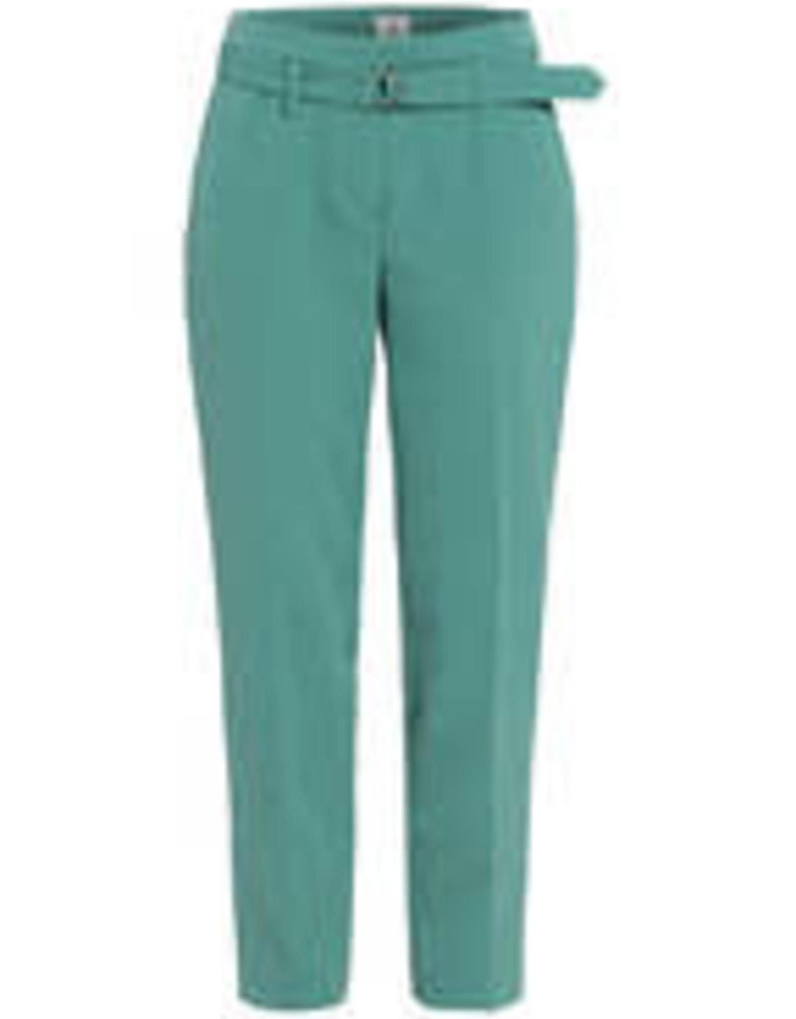 Riani Pantalon slim fit met belt Eucalyptus Groen