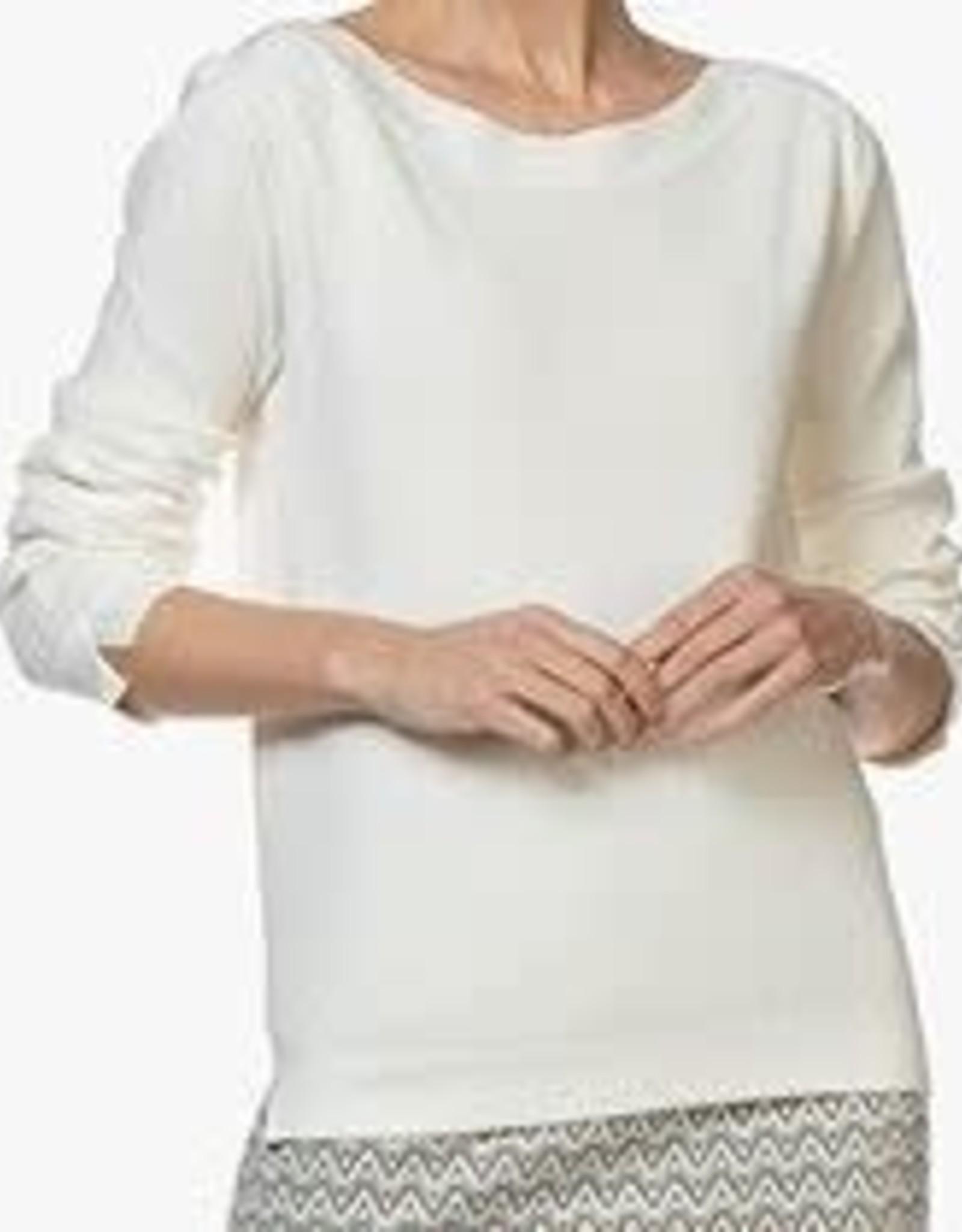 La Salle Pullover Boot Hals Off White