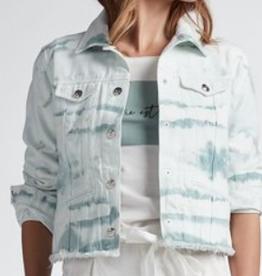 Oui Jeans Jacket Wit Groen