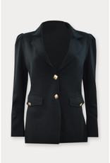 La Salle Knitted Blazer Black