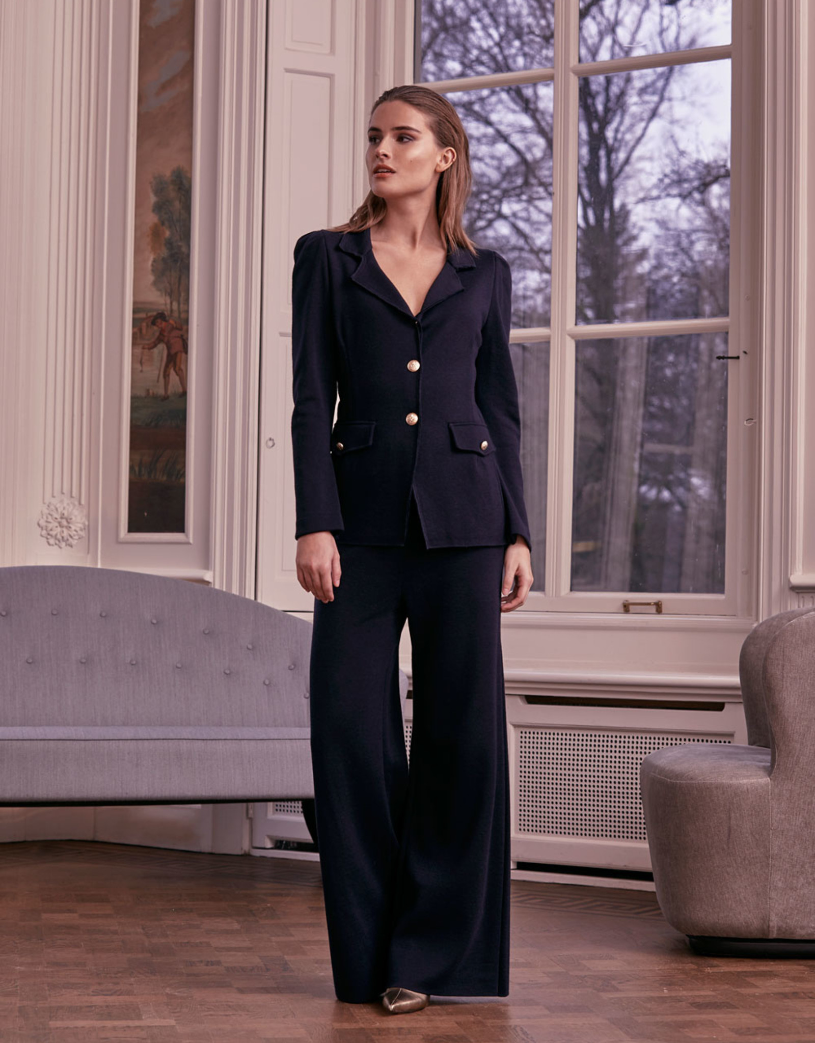 LaSalle Knitted Blazer Black