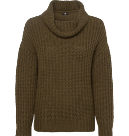 Riani Pullover Militaire Green Ronde Hals