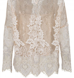 Marc Aurel Blouse Kant Beige Off White