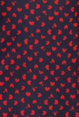 Marc Aurel Blouse Blauw met rood Hartje
