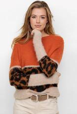 Oui Pullover Orange Print
