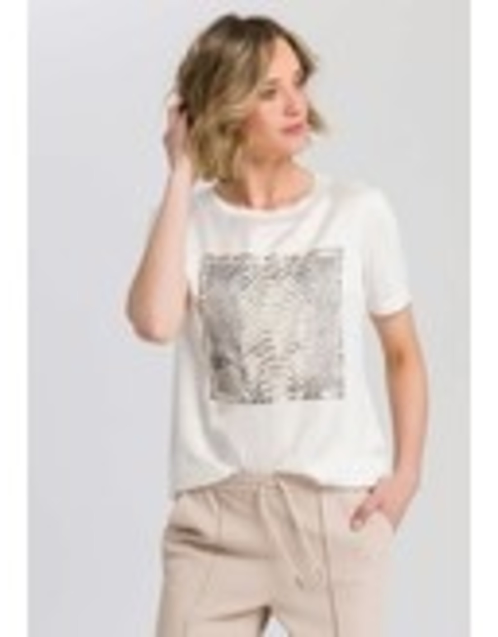 Marc Aurel T Shirt Print Sand Varied