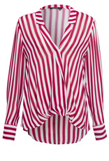 Marc Aurel Blouse Rasberry Stripe