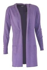 Mooi Loret vest violet melange shawl kraag ceintuur