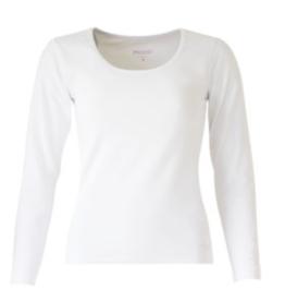 Mooi Tshirt Arlette lange mouw white