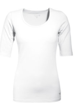 Mooi Tshirt Joyce drie kwart mouw white