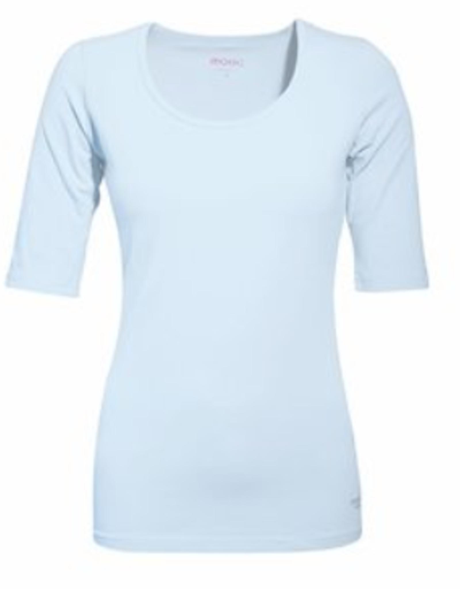 Mooi Tshirt Joyce drie kwart mouw light blue