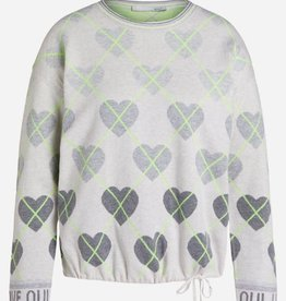 Oui Pullover Ruit patroon